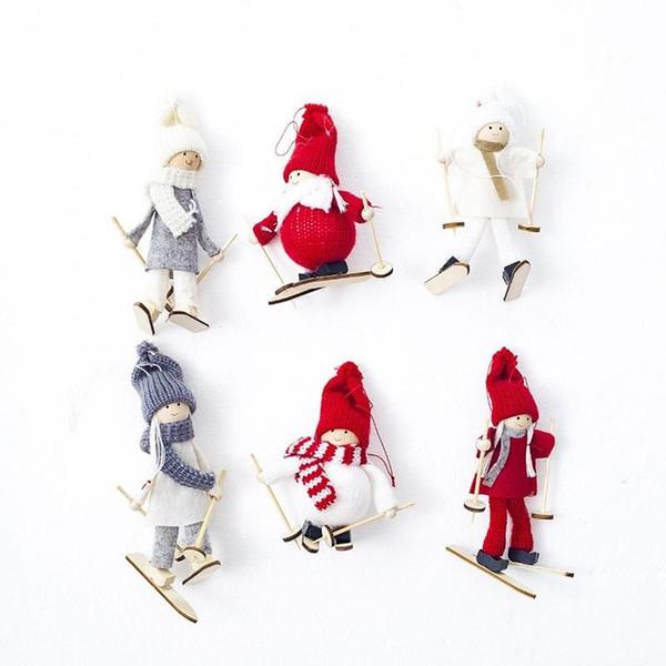 Compre 6 Estilos Creativo Kawaii Muñeca De Navidad Angel Girl Ski ...