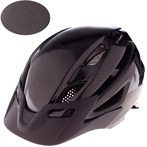 300g Kalınlaşmak Karbon Fiber MTB Dağ Bisikleti Kask koruyucu Bisiklet Yol bisiklet Spor Kask in-kalıp Yol Bisikleti 52-59 cm