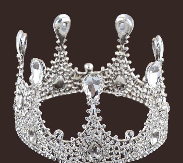 Bridal Jewelry Wedding dress accessories, bridal cake, crown, hoop, round headdress.