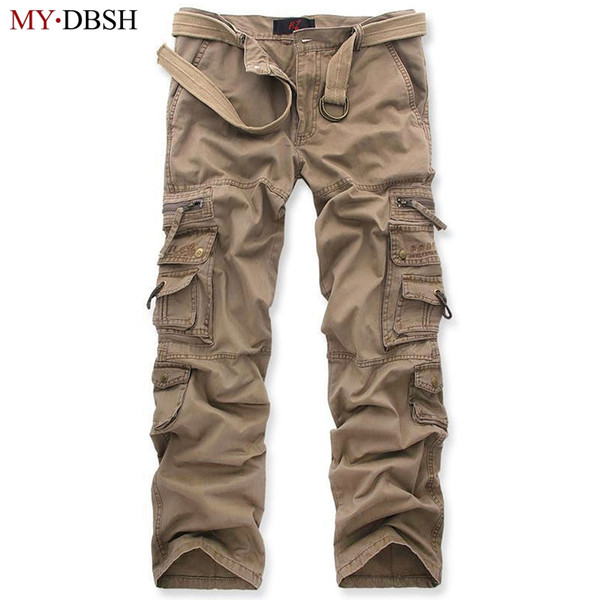 New Tactical Pants Men's Camouflage Cargo Pants Men Combat Army Train Casual Cotton Pockets Paintball Outdoors Army Trouser Y1892801