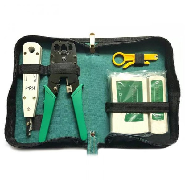 5 pz / set Cavo di Rete Ethernet Tester RJ45 Kit Piegatore Strumenti di Piegatura Punch Giù RJ11 Cat6 Wire Detector QJY99