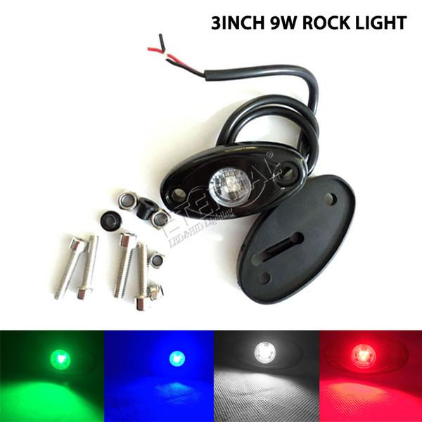 100 stücke 9 Watt LED rock licht für marine boot yatch angeln camping motorrad ATV UTV SUV lkw anhänger schwere ausrüstung sichern arbeitslicht