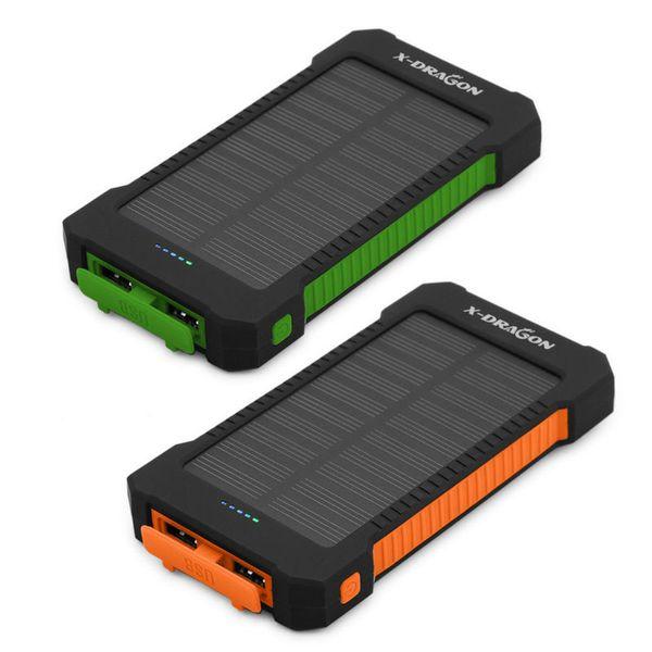 Caricabatterie solare Caricatore solare portatile a energia solare 10000mAh per iPhone 6 6s 7 iPad Air Telefono cellulare Samsung Huawei Xiaomi