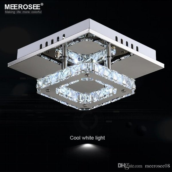 Square LED Crystal Chandelier Light for Aisle Porch Hallway Stairs wth LED Light Bulb 12 Watt 100% Guarantee