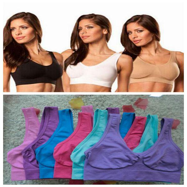 best selling 9 Colors Top Quality Seamless Sports Bras Push Up Bra Ahh Bra Shaperwear Bras Seamless Sports Bras Yoga Bra CCA8528 3000pcs