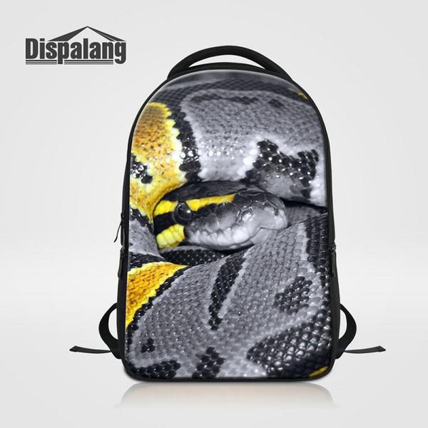 Personalized Design Snake School Bags Bookbags For High Class Students Animal Backpack Men Laptop Bagpacks Male Rugzak Mochila Wholesale Sac