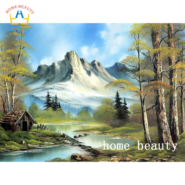 3D diy diamond painting cross-stitch kits full drill resin embroidery with diamond home decoration landscape pictures AC338