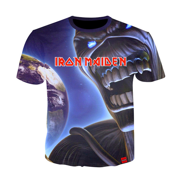 Iron maiden Shirt Tee Band Musica T-shirt Skull Tshirt Gothic Tops Rock Vestiti Punk 3D Stampa T-Shirt Coppie 10 Stili