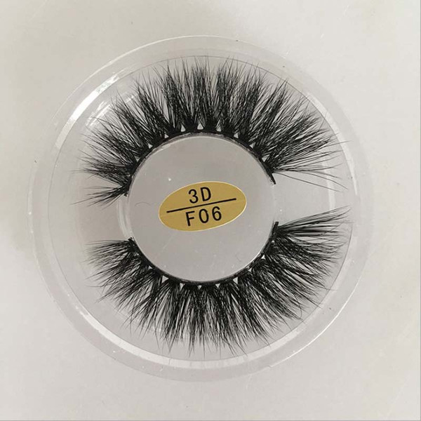 5Pairs/lot 3D Artificial Mink False Eyelashes Cross Thick Messy Hot Fake Eye Lashes Makeup in stock #3D-F06
