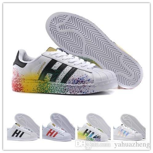 new style 73dbe 6a4a3 Cheap 2018 Originals SupeRstar Shoes AdiDas Hologram Iridescent Junior  Sapatos Pride Sneakers Super Star Women Men Sport Casual Shoes 36 Boat  Shoes ...