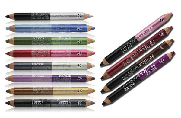 12 Colors/Set Highlighter Glitter Eyeshadow Eyeliner Pen makeup durable Waterproof sweatproof Double-Ended Eyes Pencil Makeup