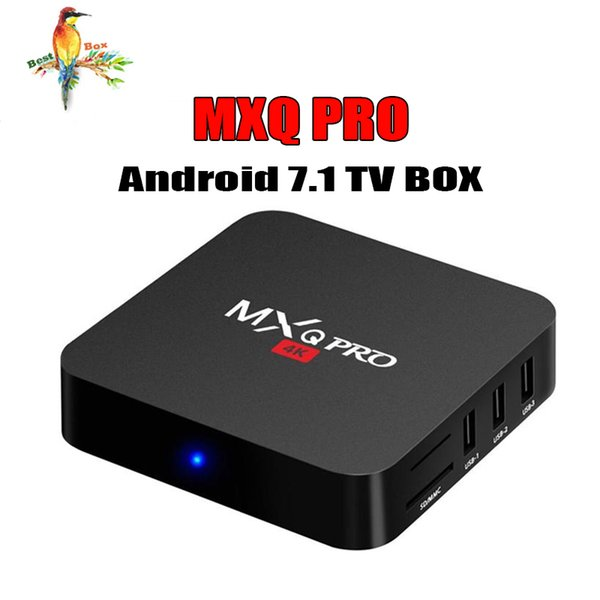 MXQ Pro 4K Android 7.1 TV Box Amlogic S905W RK3229 Quad Core 64bit Smart Mini PC 1G 8G Support Wifi 4K H.265 Streaming Google Media Player