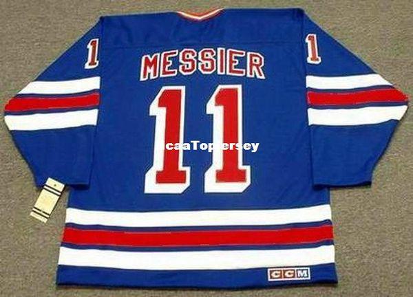 Мужские трикотажные изделия MARK MESSIER Нью-Йорк Рейнджерс 1996 CCM Vintage Away Дешевые Ретро Хоккейный Джерси