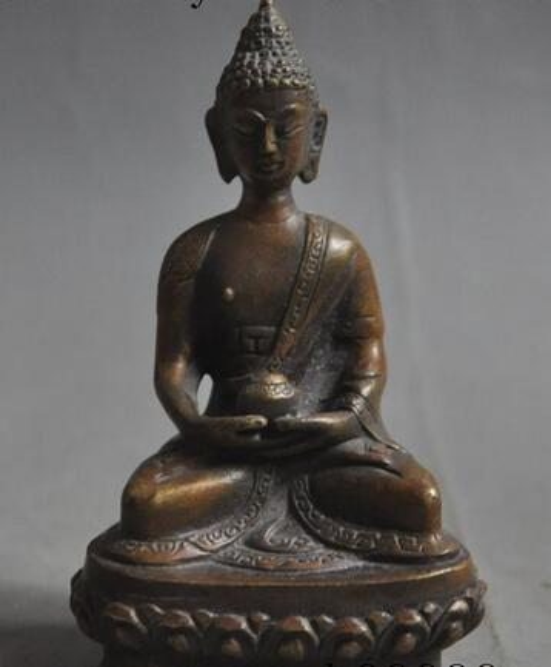 Christmas old tibet buddhism temple bronze sakyamuni Shakyamuni Medicine Buddha statue Halloween Halloween