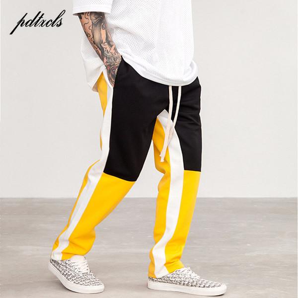 Hot Color Block Patchwork Harem Pants Joggers Mens 2018 Spring Hip Hop Casual Track Pants Fashion Streetwear Trousers Sweatpants