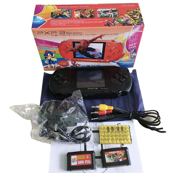 Portable 16 Bit PXP3 Handheld Game Player Video Game Console with AV Cable+2 s Classic Child Games PXP 3 Slim Station