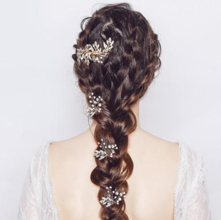 Delicated Bridal Hair Set - Pretty Pearl Crystal 3 U Pin + Comb Wedding Hair Accessories Bridal Pretty Hair Piece