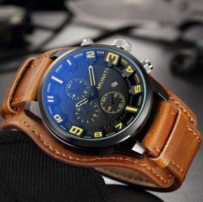 8991a4eb9b0 MUNITI Marca Big Dial Esporte Relógios Homens de Luxo Militar Relógio De  Quartzo À Prova D