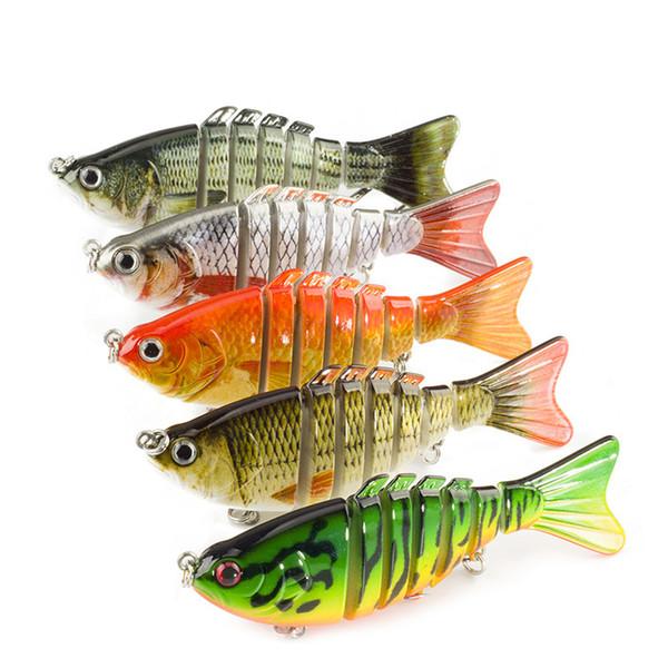 Crankbaits Fishing Wobblers Lures 10cm 12g 7 Segments With Artificial Hooks Winter Pesca Hard Baits Swimbait 1pcs/lot