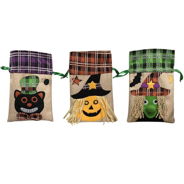 Halloween Candy Gift Handbag Decorations Supplies Pumpkins Draw String Handbag Party Costume Jewelry Shopping Bags