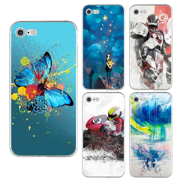 Soft TPU Fashion Printing Ink Painted Phone Case For iPhone X 8 7 6 6s plus 5S Samsung Galaxy S7 Edge S8 S9 Plus Note 8 Silicone Back Cover