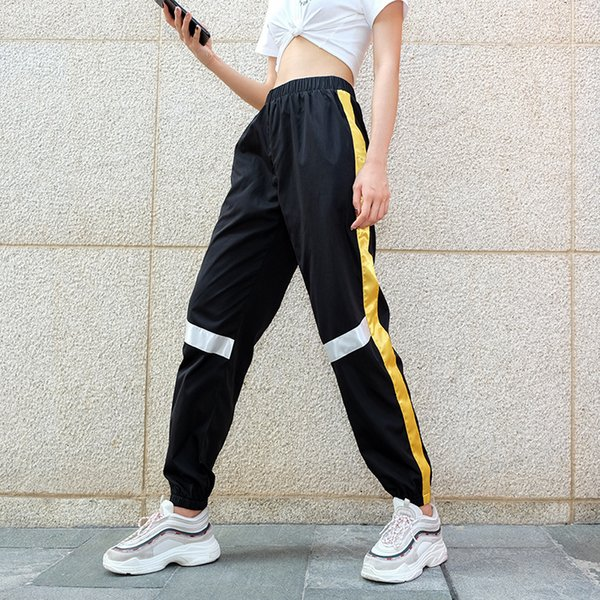 26167860e Harajuku Hip Hop Harem Pants Streetwear Women Street Style Pantalon Femme  Panelled Spliced High Waist Jogger