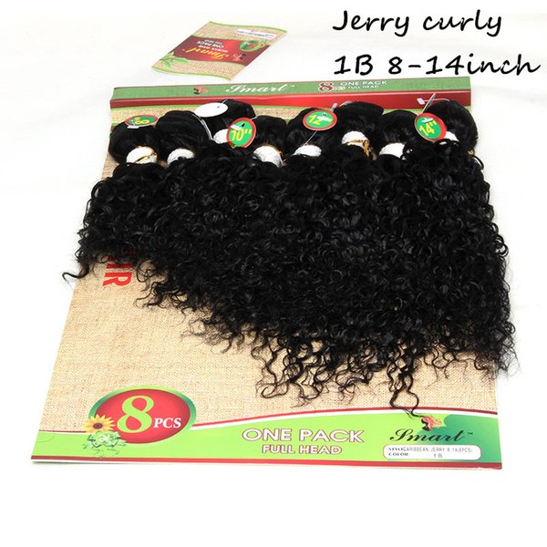 8-14inch jerry curly black