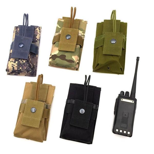 best selling Adjustable MOLLE Radio Holder Tactical Cordura Nylon Short Radio Pouch