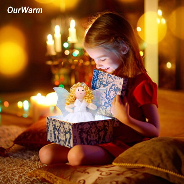 OurWarm Christmas Gifts for Kids Girls Standing Doll Toy New Year Christmas Tree Decorations for Home Xmas Happy New Year Gift