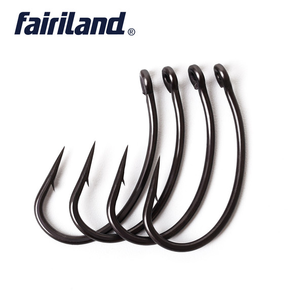 100pcs/Lot TFSH-G Barbed Hooks chemically sharpened TEFLON Coated high carbon steel Carp Fishing Hook with free hook box