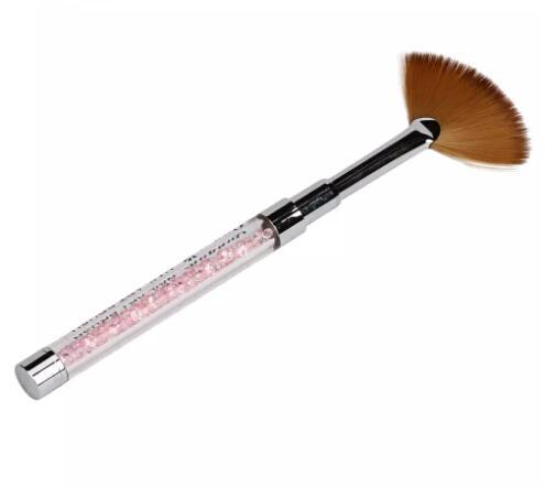 Wholesale GRACEFUL 1PC Nail Art Fan Pen Brush Nail Tools Gel Pen Brush Acrylic Handle Tool Crystal Nail Brush