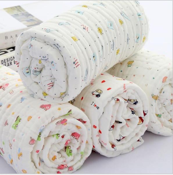 Cotton Baby Swaddles Blankets 6 Layers Newborn Bath Gauze Infant Wrap Sleepsack Stroller Cover Play Mat Boys Girls Towels For Newborn Gifts