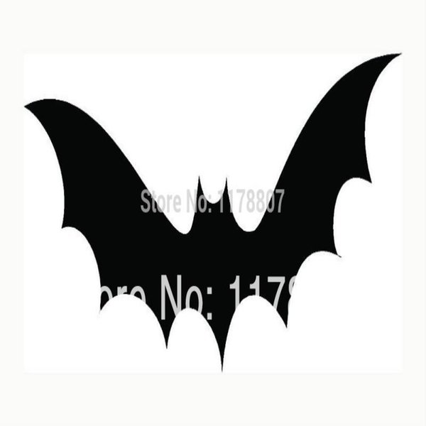 HotMeiNi Wholesale 20pcs/lot Bat Sticker Halloween Scary Haunting For Car Rear Windshield Truck Suv Laptop Art Wall Etc Decal 8 Colors