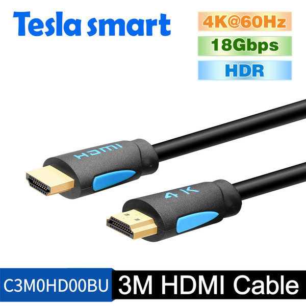 Tesla smart 3m 10ft HDMI 2.0 Cable 4K@60Hz HDMI Cable Adapter 3D for Xbox360 LCD PS3 PS4 projector computer
