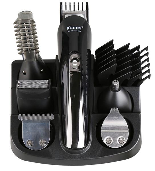 KM-600 kemei 6 en 1 tondeuse à cheveux professionnel tondeuse à cheveux hommes électrique coupe de coiffeur machine de coupe de cheveux céramique titan