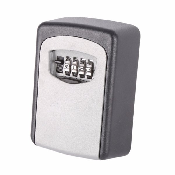 New Arrival Outdoor Safe Key Box Storage Organizer With 4 Digit Wall Mounted Combination Password Keys Hook Organizer Boxes