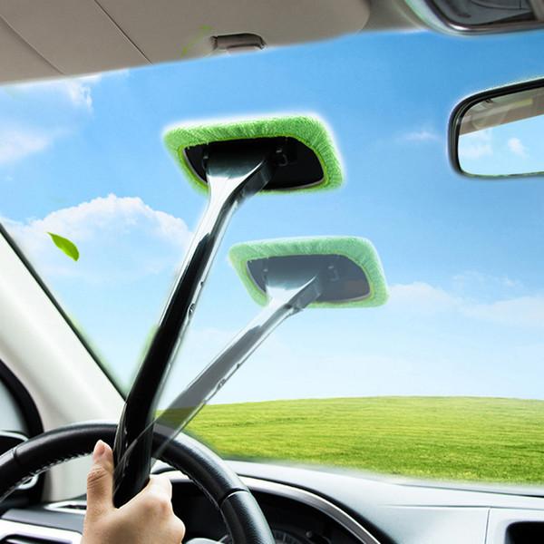 Car Auto Detailing Window Cleaner Manico lungo Auto lavabile spazzola finestra parabrezza pulitore tergicristallo auto strumento di pulizia