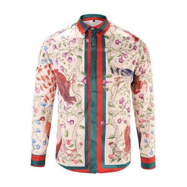 fj666 / Nova marca de moda masculina casual vestido camisas Medusa de manga comprida casual slim fit masculino camisas de luxo social