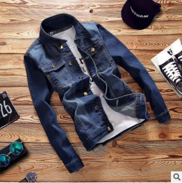 Kore moda kot ceket erkek İnce düz renk basit gündelik erkek ceketi Retro gençlik gömlek sıcak satış moda sonbahar ve kış