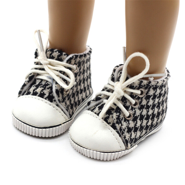 18 Inch American Dolls Shoes Baby Born Doll Shoes Casual Canvas Fit On 18 Inch 43cm Zapf Baby Born Doll Accessories