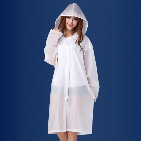 En plastique Femme Manteau De Pluie Imperméable Épaissie Manteau De Pluie Veste Transparent Des Femmes Veste Vêtements De Pluie Costume Pour Camping