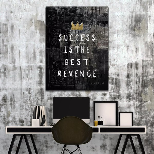 """Unframed/Alec Monopoly """"SUCCESS IS THE BEST REVENGE"""",HD Canvas Print home decor wall art painting,office art culture"""