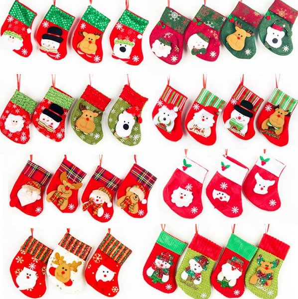 Immagini Carine Di Natale.Acquista Regali Natalizi I Bambini Calze Di Natale Calzini Forcelle Borse Carine Caramelle Colorate Calze Ornamenti Alberi Di Natale Decorazioni
