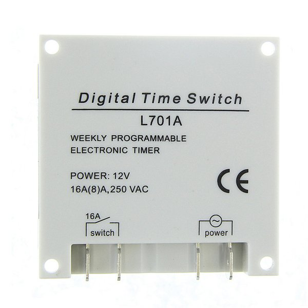 Temporizador programable LCD digital Interruptor temporizador programable Temporizador electrónico programable semanal LB88