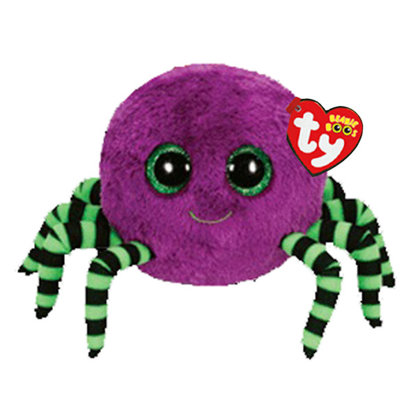 "Ty Beanie Boos Stuffed & Plush Animals Purple Spider Toy Doll With Tag 6"" 15cm"