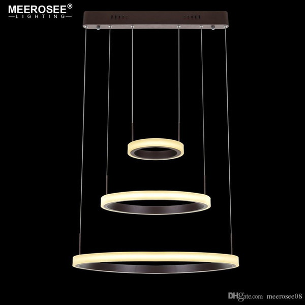 2018 Modern LED Pendant Lights 3 Circle Rings Pendant Lamp For Foryer Living room LED Lustre Hanging Ceiling Luminaires