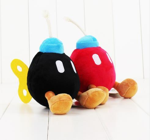 14CM Super Mario Bros Bomb stuffed toy soft plush doll cute bomb free shipping good gift for kids Stuffed toys