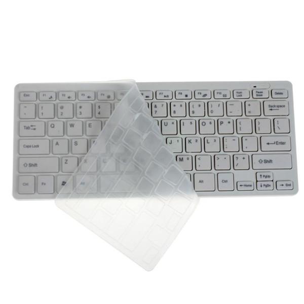 Del Luxury Ultra Slim Mini 2.4G teclado inalámbrico Kit de ratón para PC portátil blanco Mar02