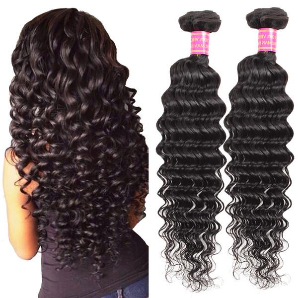 Wholesale Cheap 8A Brazilian Deep Wave Human Hair Bundles 100% Unprocessed Indian Deep Wave 2 Bundles Peruvian Human Hair Weaves 8-28inch