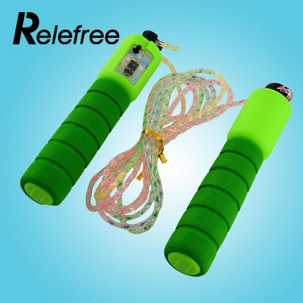 Adjustable Skipping Jump Jumping High Speed Rope Counter Number Sports Fitness Exercise Workout Gym Calorie Durable Multicolor